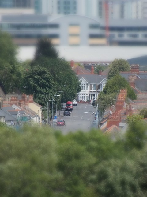 View of Cardiff City Centre-Testing tiltshift