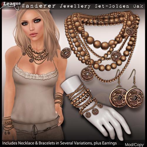 *League* Wanderer Jewellery Set -Golden Oak