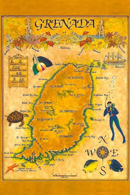 Grenada  Map  Isle Of Spice  Flickr  Photo Sharing