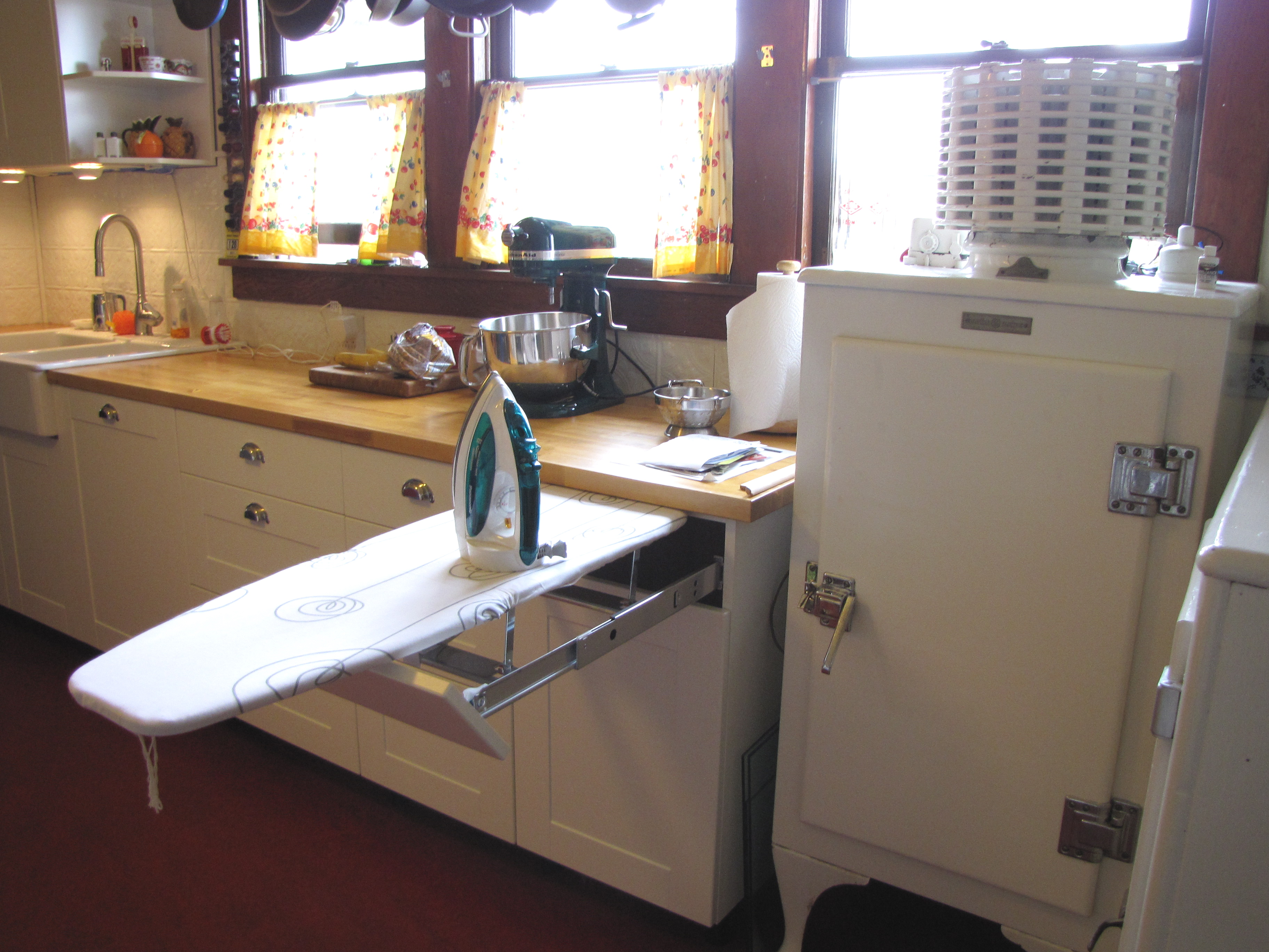 fold up kitchen table island with casters built-in ironing board in | flickr - photo sharing!