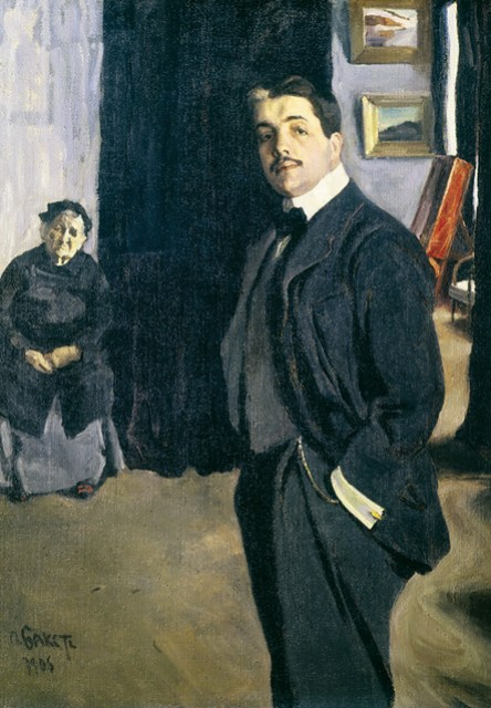 Bakst, Leon (1866-1924) - 1905 Portrait of Sergei Diaghilev and his Nanny