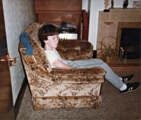 Me, Living Room Chair, 1980s | Flickr - Photo Sharing!