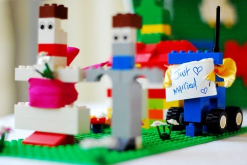Danae and Dougie in Lego