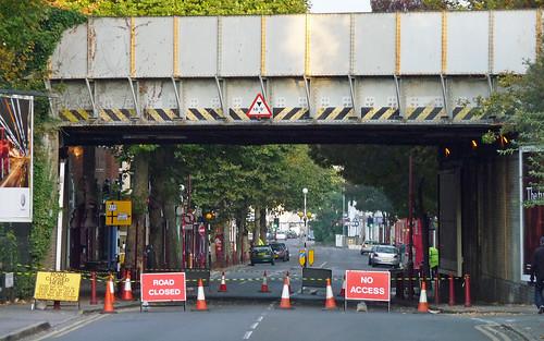 Surbiton Railway Bridge closure - view into Surbiton