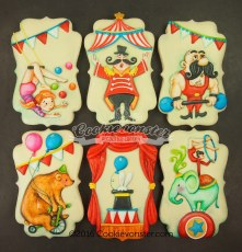 Hand painted Circus set