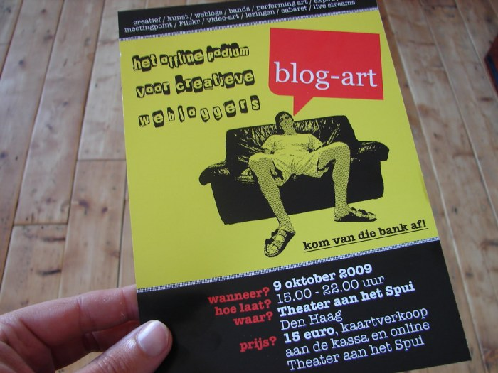 Blog-art flyer