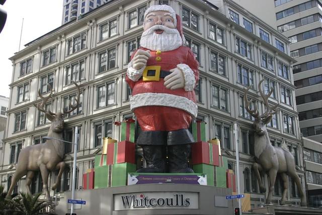 Giant Santa & Reindeer