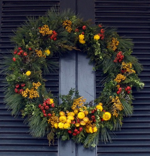 Flowers & Berries Christmas Wreath