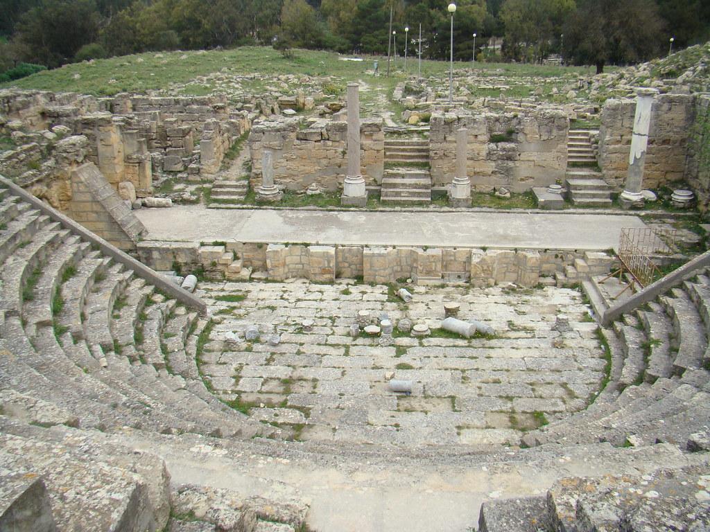 Cirene Odeon Teatro Griego Libia 05
