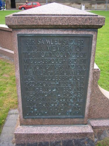 Samuel Sadler Statue, Middlesbrough