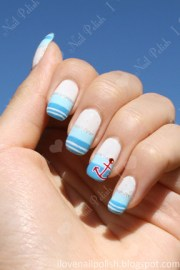 nautical themed nail art essie