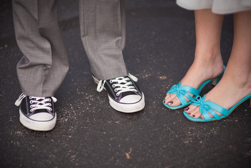 The wedding shoes