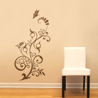 floral wall decals 2017 - Grasscloth Wallpaper