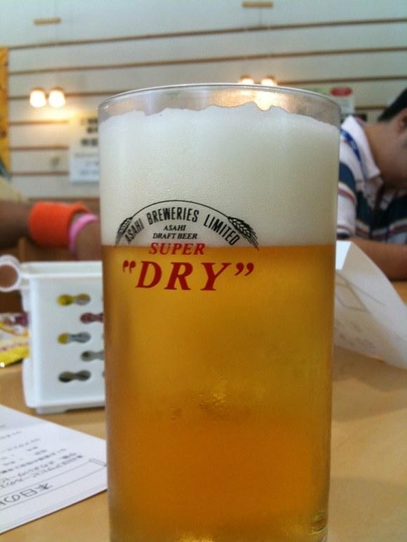 アサヒビール工場のビール