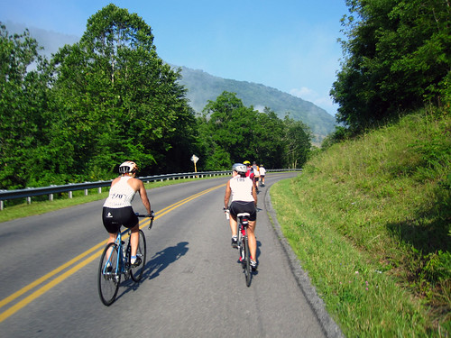 Biking on Blue Grass Valley Road