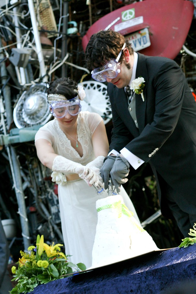 Kaci  Roys vintage Victorian junkyard wedding bash