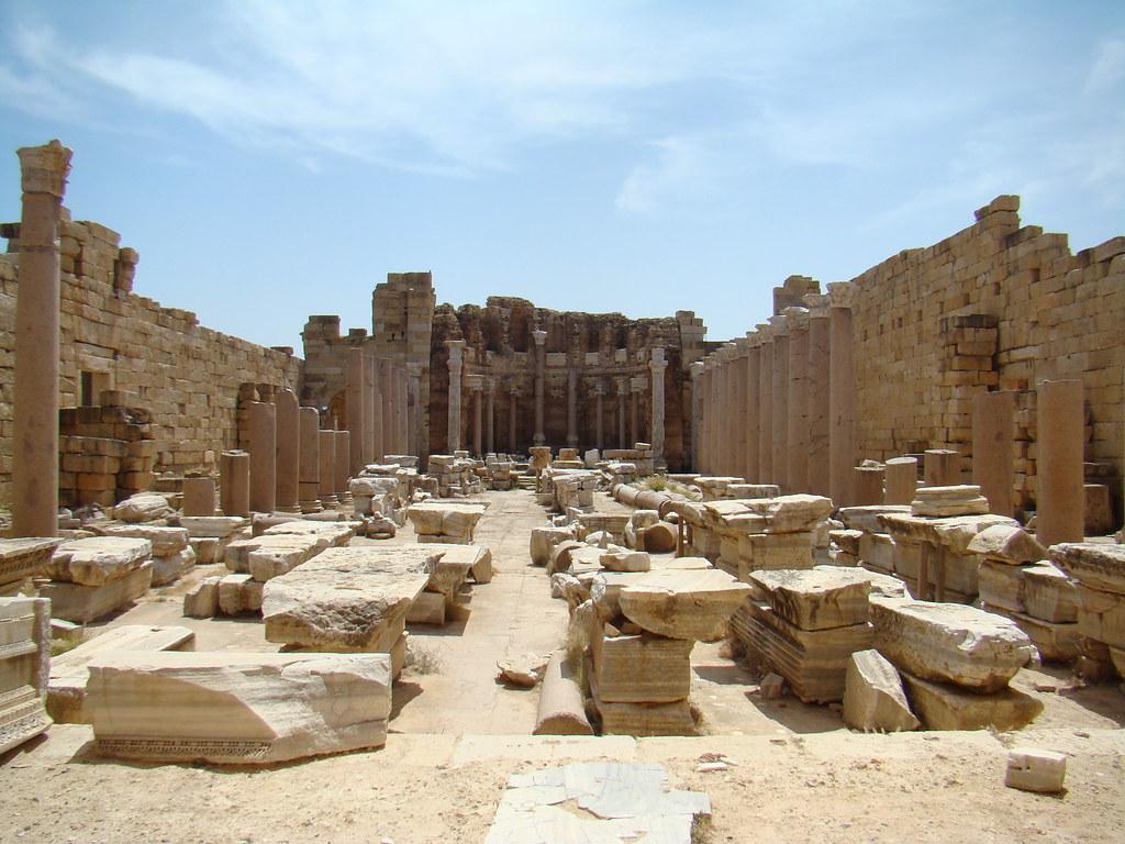 Basilica Septimio Severo Leptis Magna Libia 17