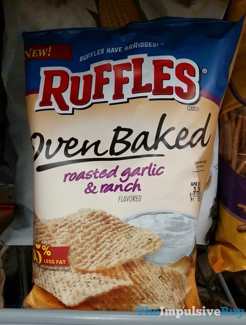 Ruffles Oven Baked Roasted Garlic & Ranch Potato Chips