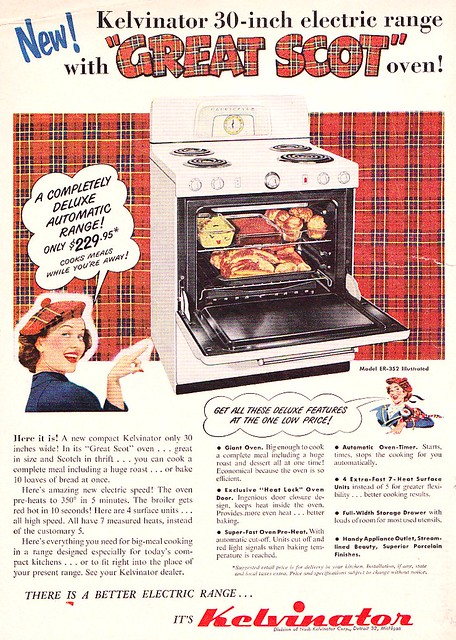 Kelvinator Oven Ad 1952