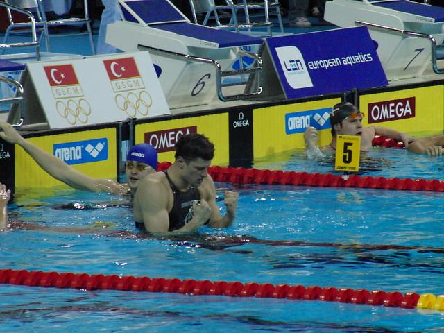 Dani Gyurta after his Istanbul 2009 world record