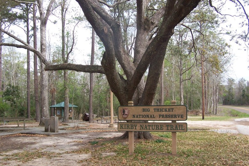 Trailhead for Kirby Nature Trail