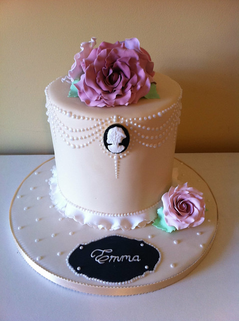 Nannettes Blog Cameo Wedding Cake Simple 2 Tier Cake