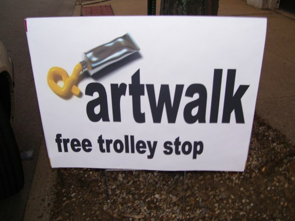 Akron Art Walk - Trolley Stop Sign
