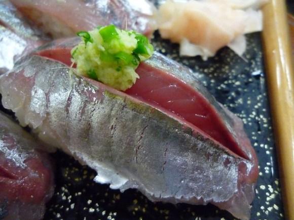 Aji (Horse Mackerel) sushi