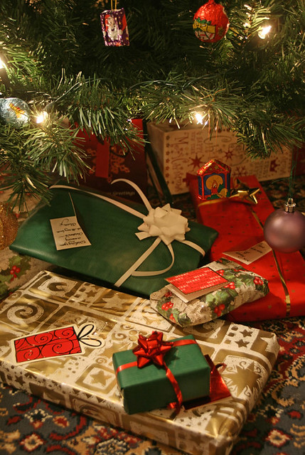 Christmas presents under the tree  Christmas presents
