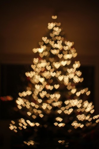 tree heart bokeh