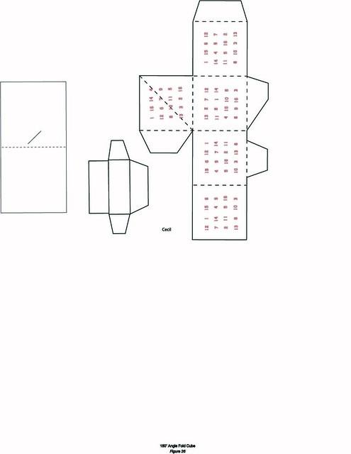 diagram of angleFoldCube-magic-square (December 6, 2009