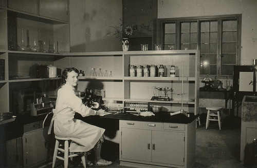 Laboratory section, Japan Baptist Hospital, Kyoto, 1955