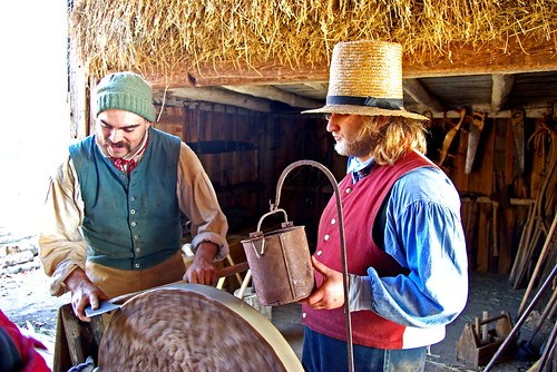 Old Sturbridge Village Freeman Farm Axe Sharpening