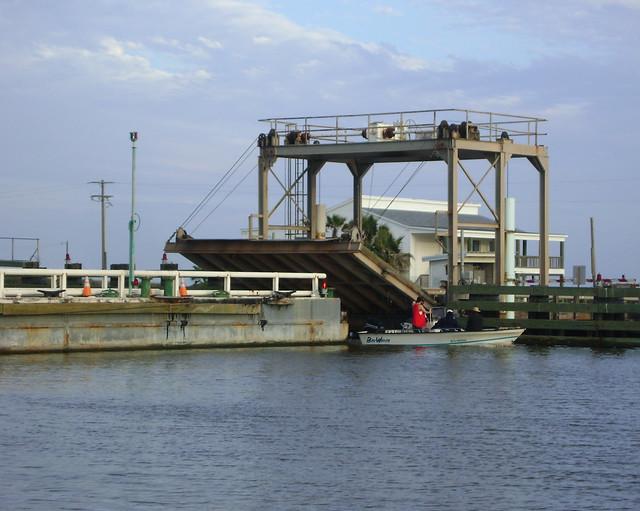 FM 457 swing bridge over Intracoastal Waterway Texas