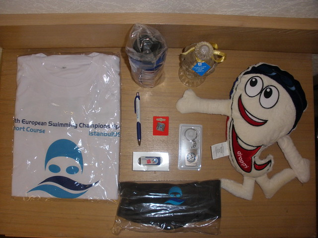 Gifts in the Istanbul 2009 European Champs goodie bag