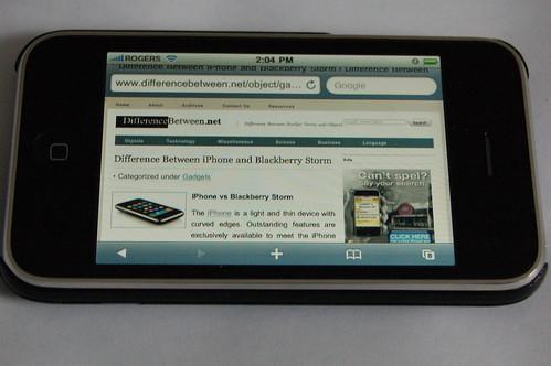 Safari on iPhone 3G