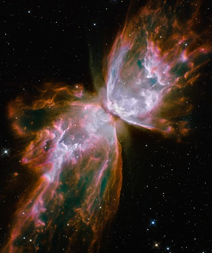 Hubble's New Eyes: Butterfly Emerges from Stellar Demise in Planetary Nebula NGC 6302