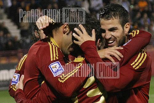 Spain - Armenia football match
