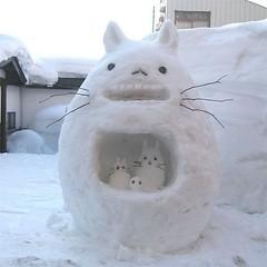 Schneekatzen-Familie