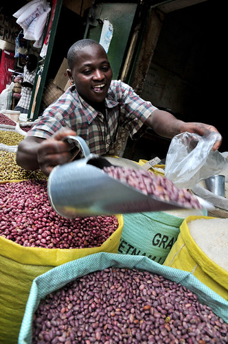 Bean market in Kampala, Uganda