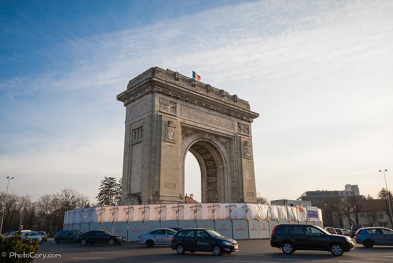 Arcul de Triumf Bucuresti 2014 renovare