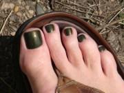 grenade military green nail