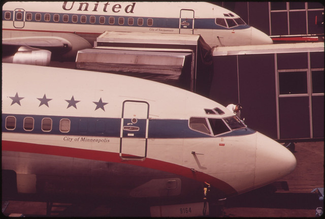 At Portland International Airport 05/1973
