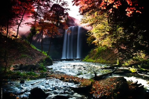 Decew Falls in Autumn