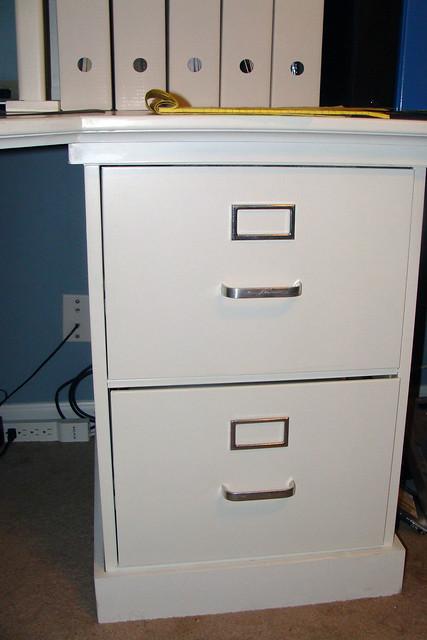 6  Old Used Metal Filing Cabinet Repurposed to Furniture
