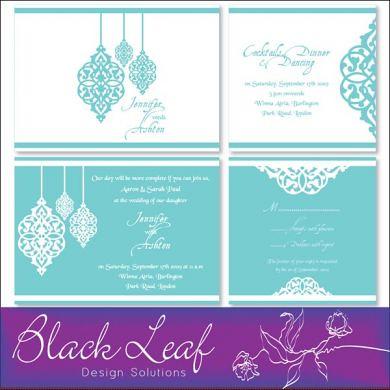 Moroccan Wedding Card Set