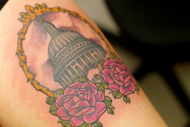 Coloured in! St Paul's tattoo