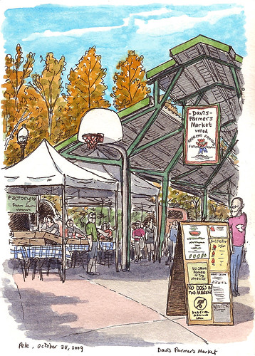 farmers market, davis