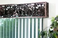 Faux Wrought Iron Cornice Window Treatment | Flickr ...