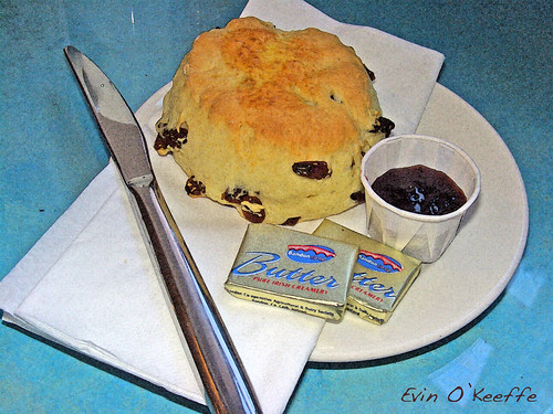 Scone with Irish Butter and Jam